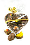 Chocoladehart gevuld met bonbons