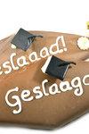 Handgeschreven Spek van Chocolade 'Geslaagd'
