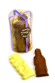 Chocolade Sint en Piet (groot) in Klikdoos