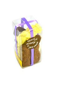 Chocolade Sint en Piet (klein) in Klikdoos