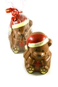 Chocolade Kerstbeer met muts