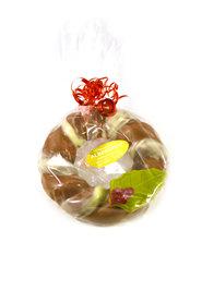 Chocolade Kerstkrans met hulstblaadje