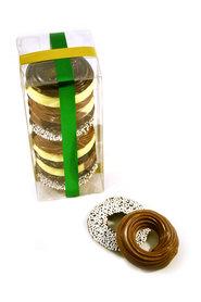 Chocolade kerstkransjes in Klikdoos
