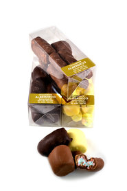 Chocolade spekjes in Klikdoos
