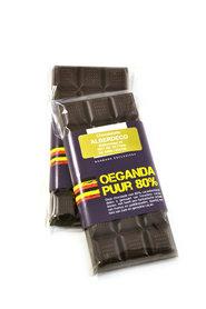 Oeganda reep - 80% Pure Chocolade