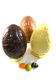 Dubbel Chocolade ei gevuld met Paaseitjes