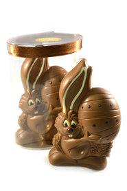 Chocolade Paashaas met ei