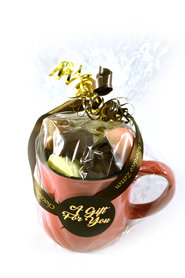 Koffiemok gevuld met Chocolade