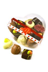 Doorzichtig hart gevuld met Bonbons