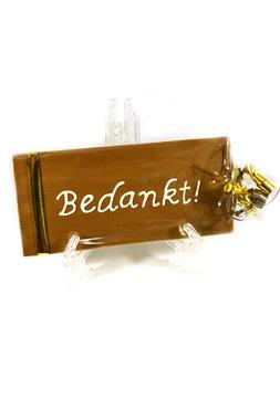 Handgeschreven Chocoladereep 'Bedankt'