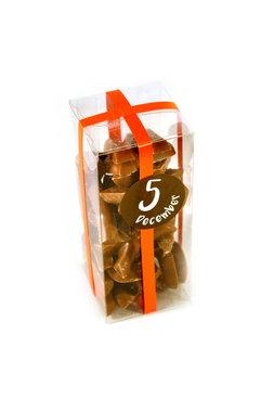 Chocolade lettertjes in Klikdoos