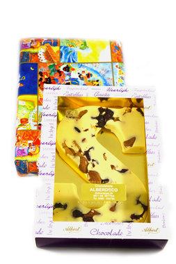 Chocolade Cranberry en Noten Letter S