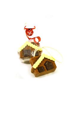 Chocolade huisje voor in de kerstboom
