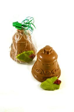 Chocolade Kerstklok met hulstblaadje