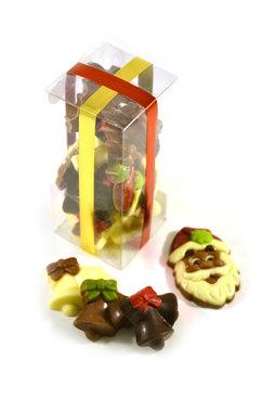 Chocolade Kerstfiguurtjes in Klikdoos