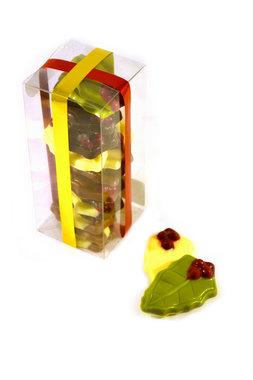 Chocolade hulstblaadjes in Klikdoos