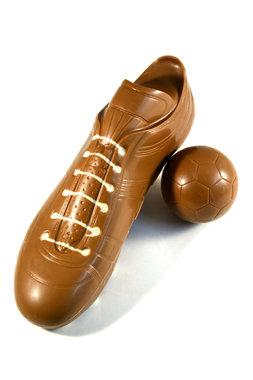 Chocolade Voetbalschoen