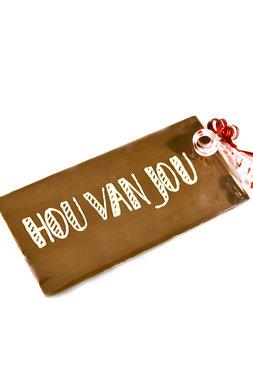 Handgeschreven Chocoladereep 'Hou van jou'