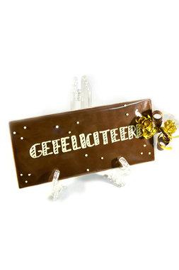 Handgeschreven Chocoladereep 'Gefeliciteerd'
