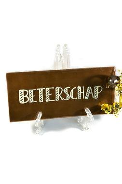 Handgeschreven Chocoladereep 'Beterschap'
