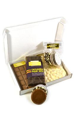Chocolade brievenbuspakket €15,- (incl. verzendkosten)