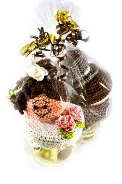 Gehaakt echtpaar met Bonbons en Platte Chocolade