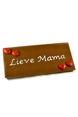 Handgeschreven Chocoladereep 'Lieve Mama'