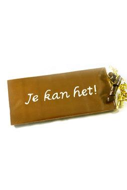 Handgeschreven Chocoladereep 'Je kan het!'