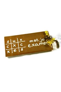 Handgeschreven Chocoladereep 'Succes met je examen'
