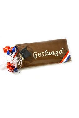 Handgeschreven Chocoladereep 'Geslaagd'