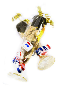 Champagne glas gevuld met Chocolade