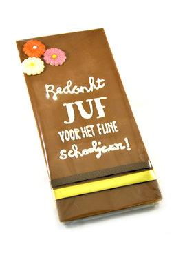 Handgeschreven Chocoladereep 'Bedankt Juf'