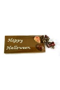 Handgeschreven Chocoladereep 'Happy Halloween' en Bonbons Doodskop
