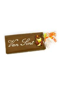 Handgeschreven Chocoladereep 'Van Sint' of 'Van Piet'