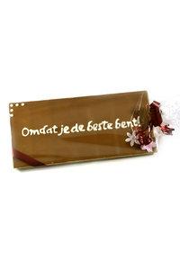 Handgeschreven Chocoladereep 'Omdat je de beste bent!'